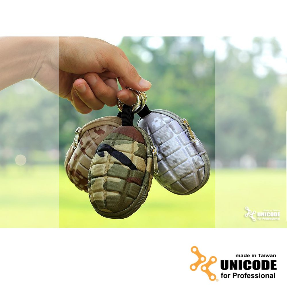 UNICODE 手榴彈鑰匙/零錢包 MK-2 Plus Case