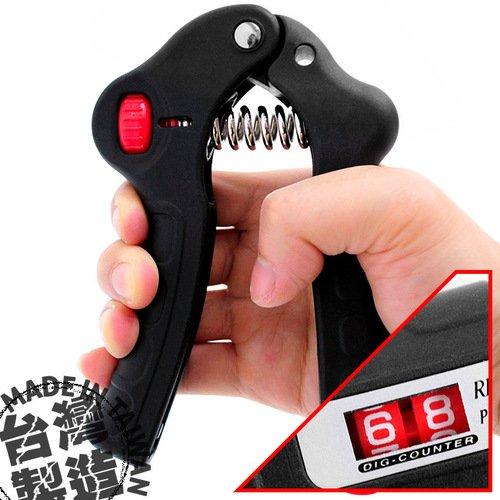 台灣製造HAND GRIP計次握力器(10~30公斤調節)計數可調式握力器.運動健身器材