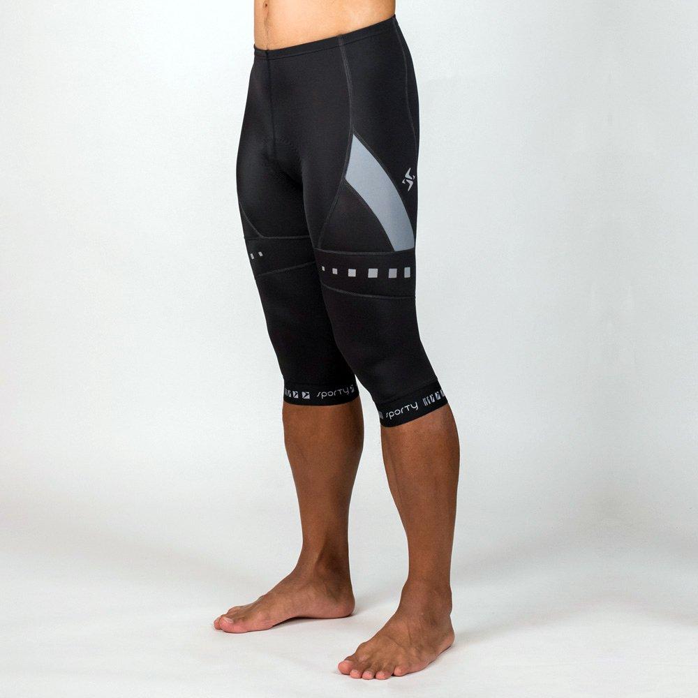 《SPORTY 司普堤》C-0828 二代男用 DANA 機能六分車褲(黑/灰色)