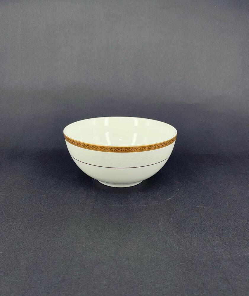 彩金骨瓷 6吋麵碗-可微波金