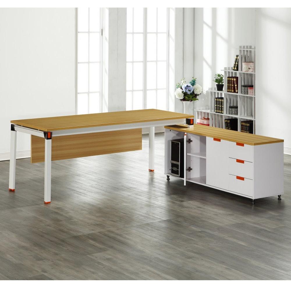 【MUNA】曼特爾6尺辦公桌組(含側櫃)(贈沙發凳X1只)
