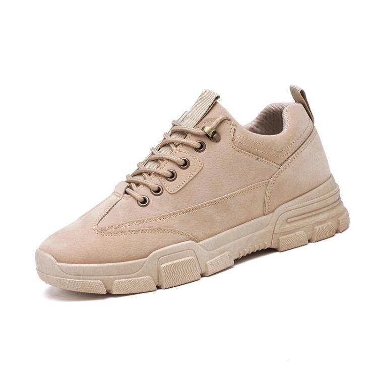 老爹鞋男 男鞋春季2020新款運動鞋子男潮流老爹鞋休閒皮鞋低幫工裝鞋馬丁靴