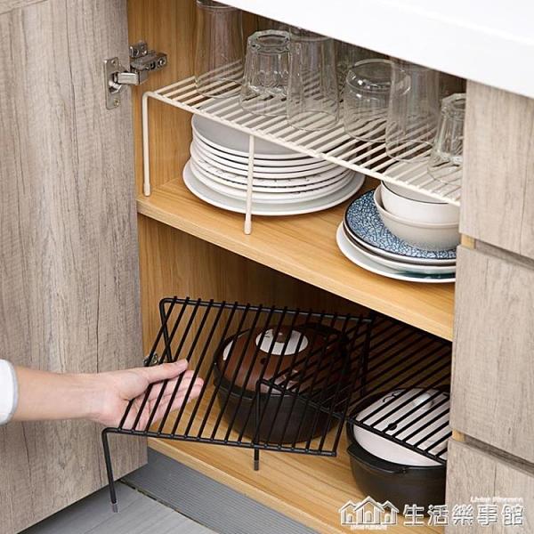 可伸縮廚房置物架調料架調味架鐵藝櫥櫃下水槽收納架碗碟架瀝水架NMS【樂事館新品】