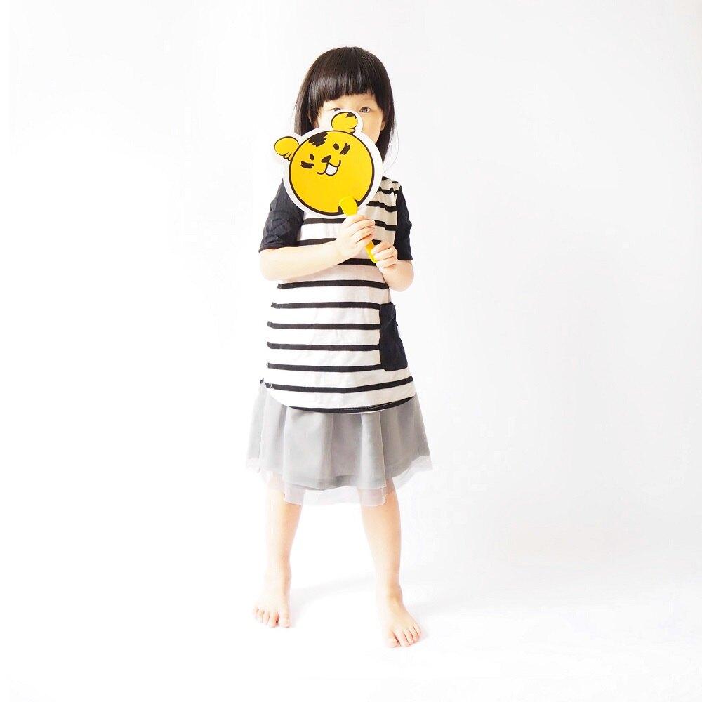 條紋氣球上衣  童裝 原絲透氣棉