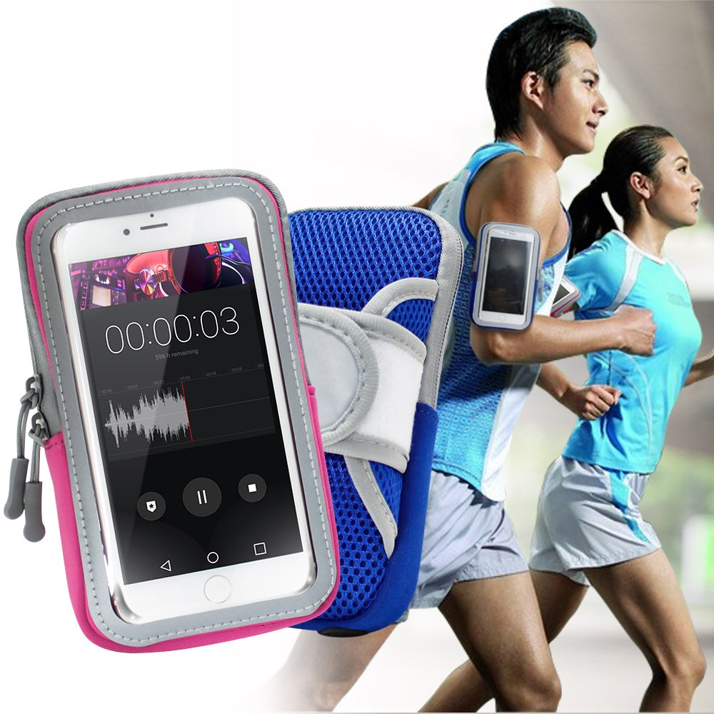 AISURE for Google Pixel 4 XL/OPPO Reno2 Z/Nokia 7.2 透氣手機觸控運動臂套臂袋