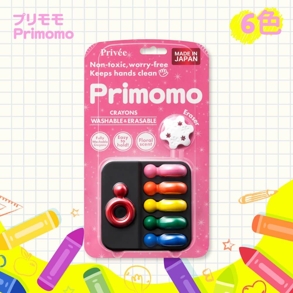 【Primomo】普麗貓趣味蠟筆6色(戒指) - 附橡皮擦