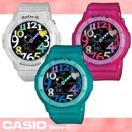 【CASIO 卡西歐 Baby-G 系列】夏季潮流霓虹多彩流行女錶(BGA-131 果凍三色)