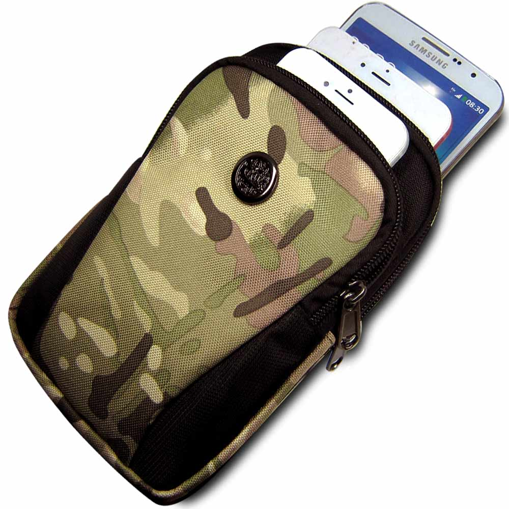 皮套達人 5.0 – 6.3吋智慧型手機三隔層雙色造型收納包