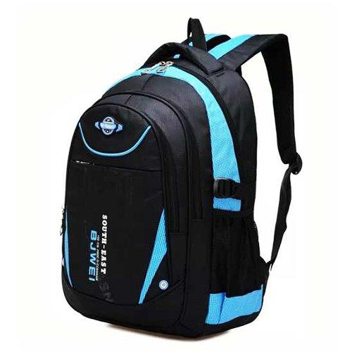 【17mall】時尚兒童減壓雙肩後背書包(藍)特惠價460隨機送10件文具組