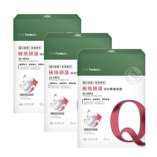 台塑生醫 Dr's Formula極地翅藻淨白緊緻面膜(5片裝)*3盒入