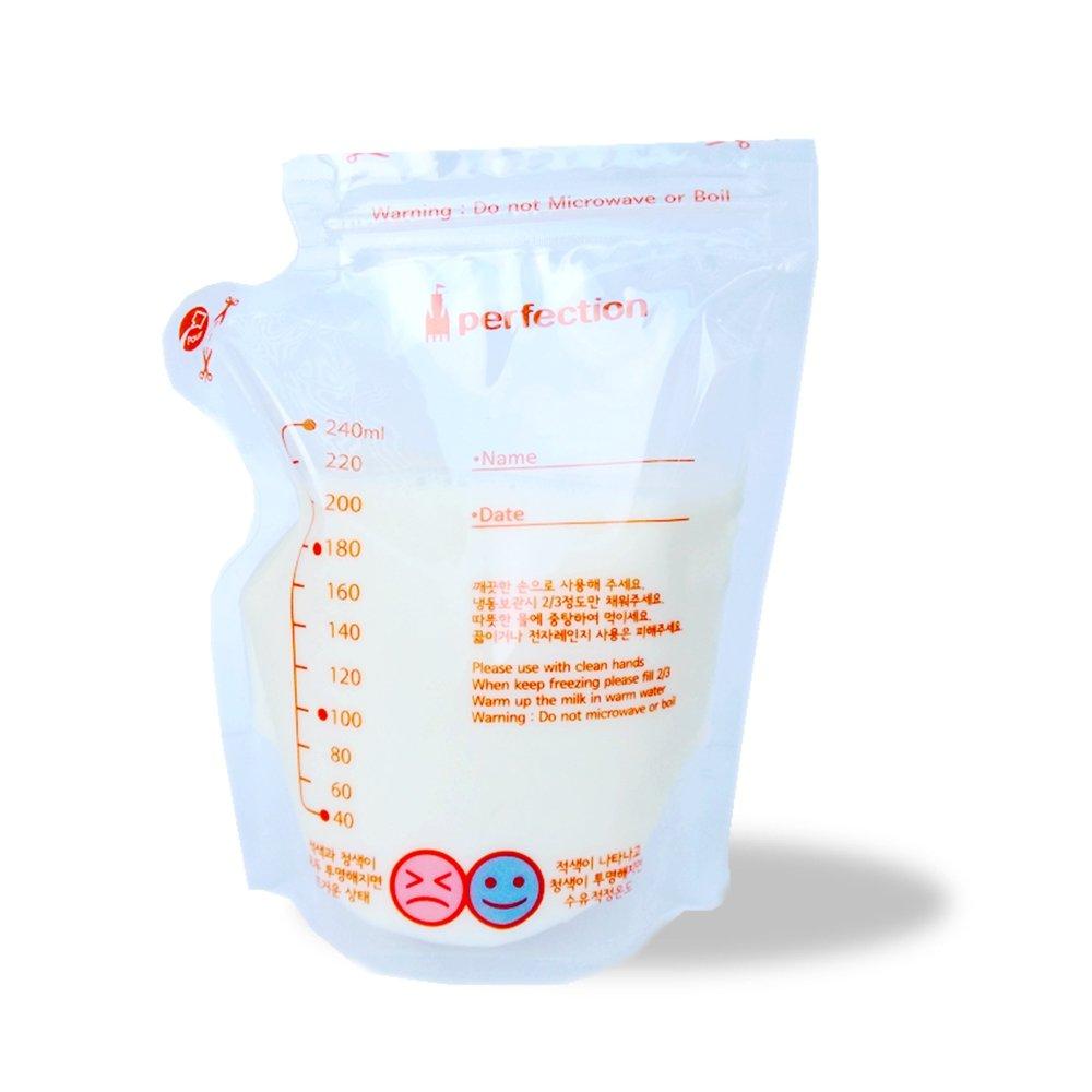 傳佳知寶  茶壺型直立式辨溫母乳冷凍袋 (240ml--20入/盒)