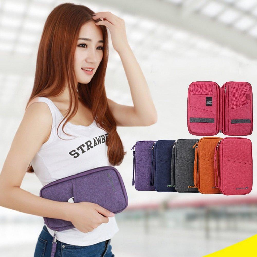 【Bunny】韓款第四代旅行防水多功能收納護照包證件包