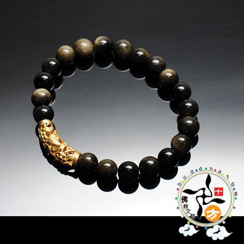 金管+金曜岩手珠8mm 十方佛教文物