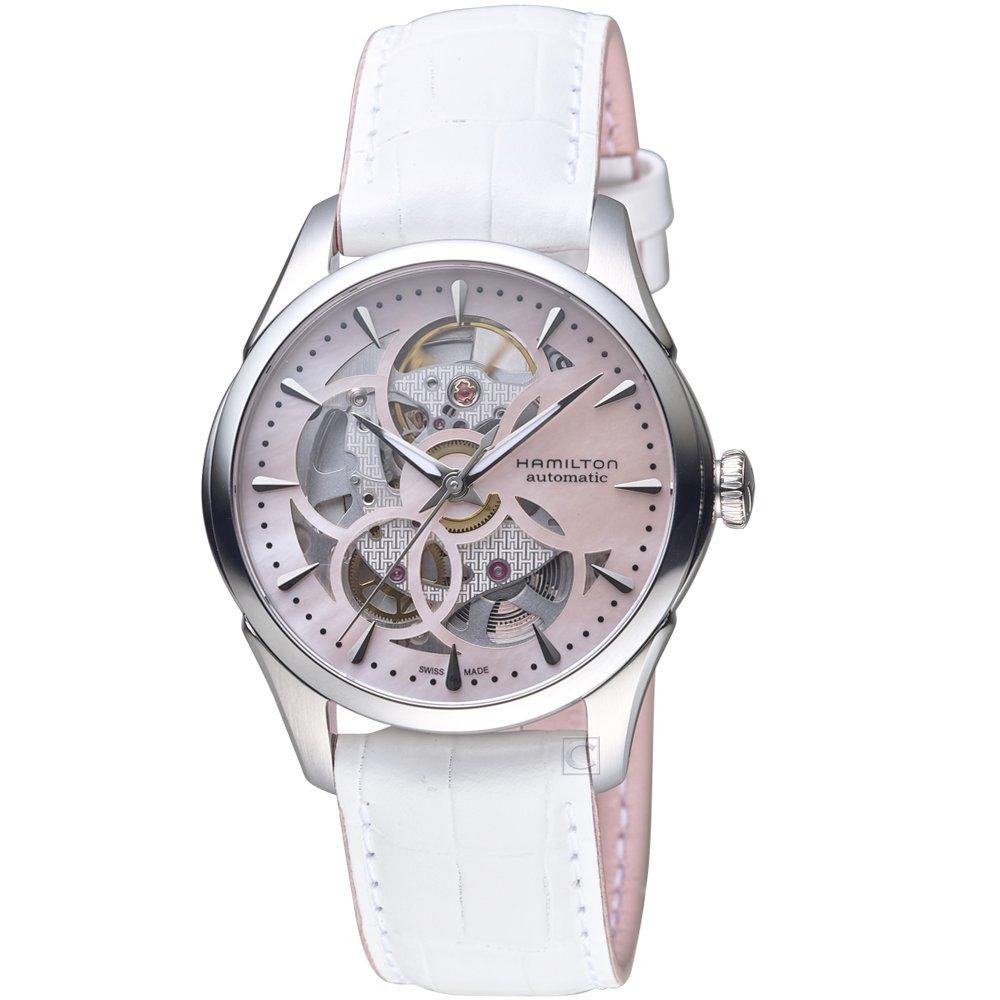 Hamilton 漢米爾頓 JAZZMASTER爵士系列花朵鏤空機械腕錶   H32405871