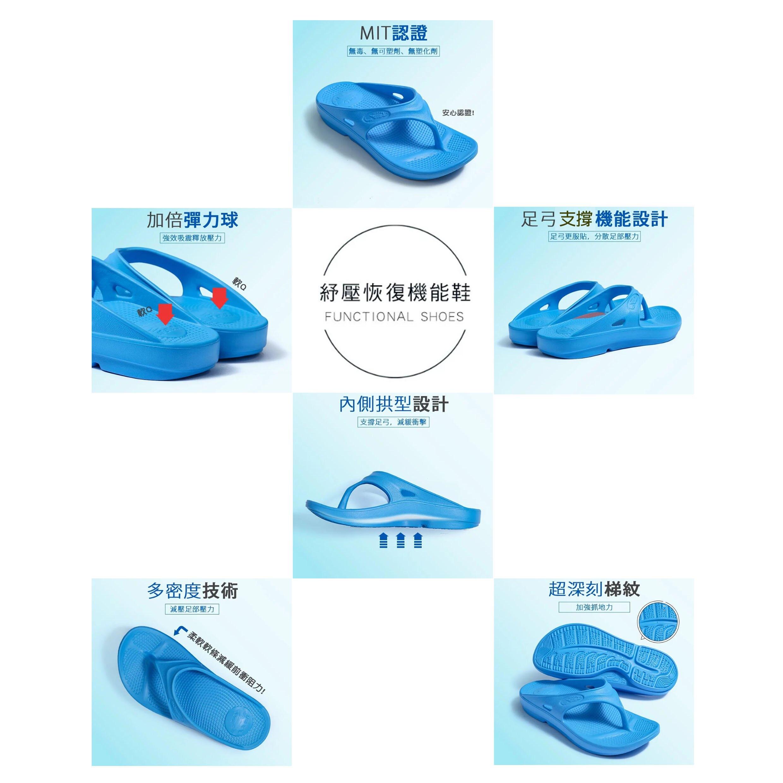 一起運動㊣母子鱷魚㊣ 紓壓恢復機能鞋 (BCU108) ★35~38碼★ 足弓拖鞋 防滑拖鞋 台灣製造