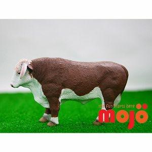 【MOJO FUN 動物模型】動物星球頻道獨家授權 - 赫里福郡公牛