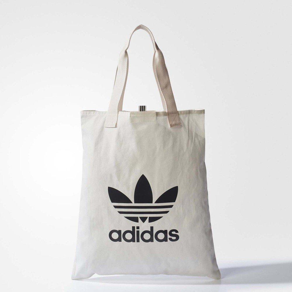 ADIDAS 購物袋 Shopper Bag 外出 休閒 愛迪達 Originals 三葉草 穿搭 白 黑 [BQ7569]