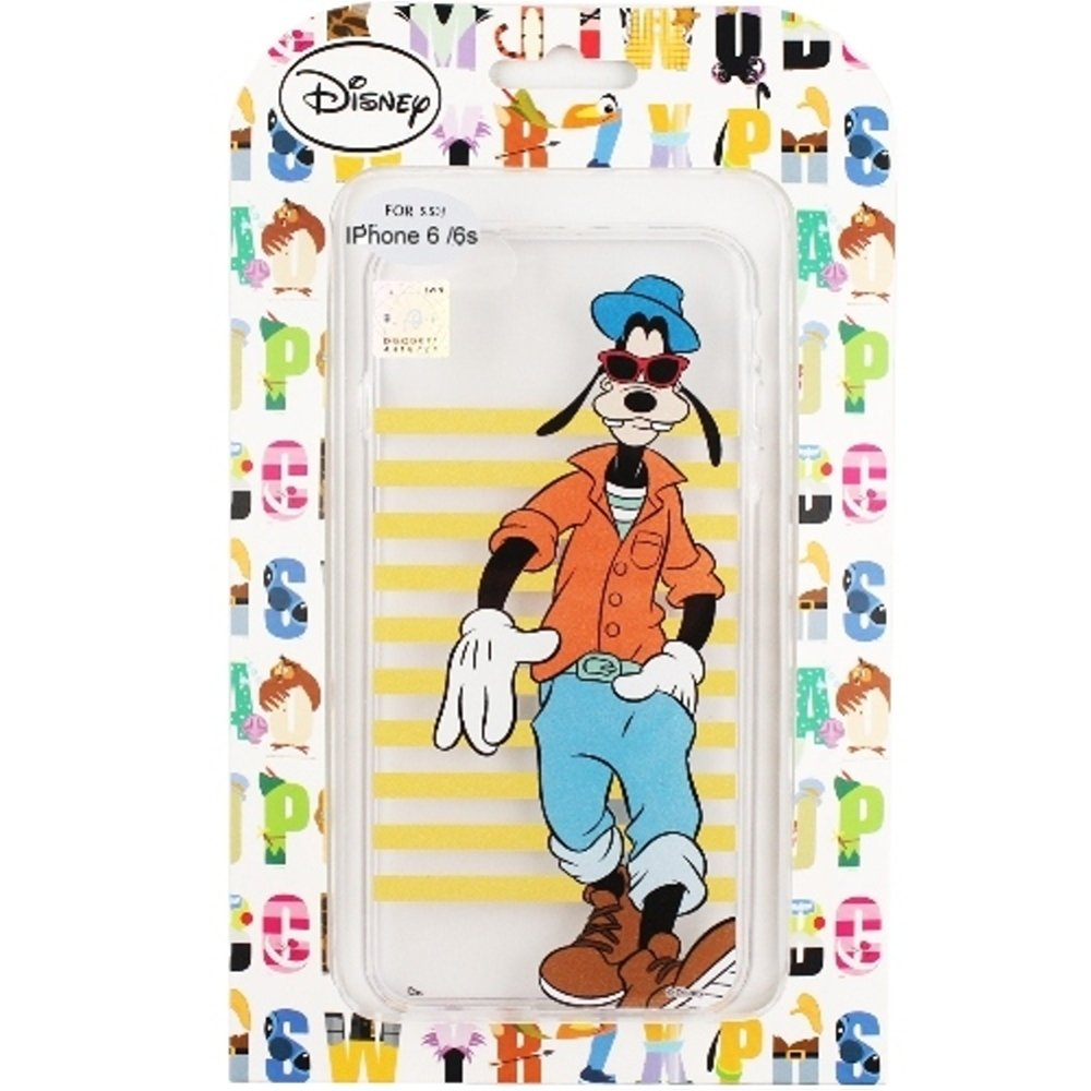 【Disney】iPhone6 /6s 橫條系列 彩繪透明保護軟套