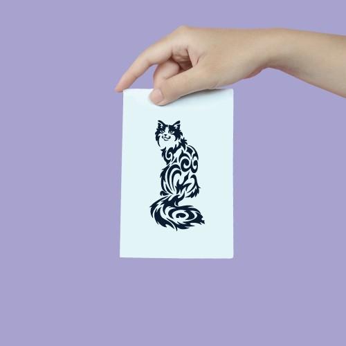 形貼膜貓圖騰 186