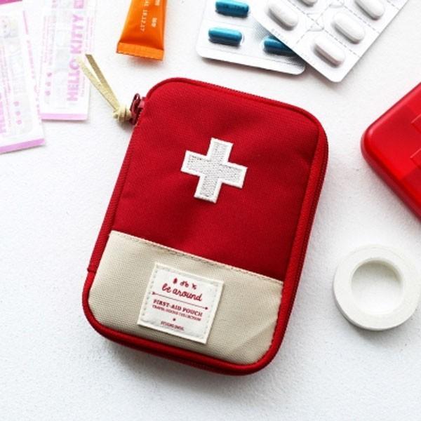 居家寶盒sv6478戶外旅行可擕式迷你隨身小藥盒急救包 藥品收納包 隨身急救包 衛生棉 衛生紙包