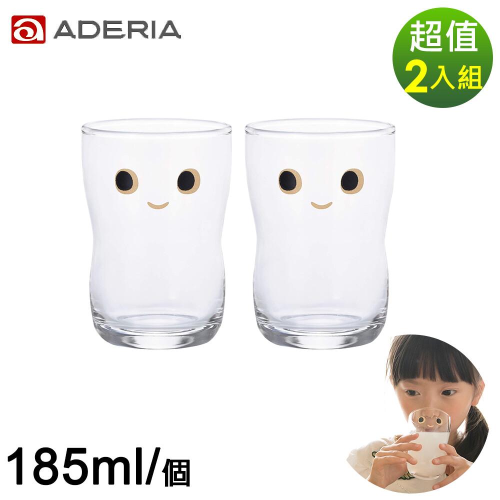 aderia日本進口nico系列大眼娃娃造型杯2入組-185ml