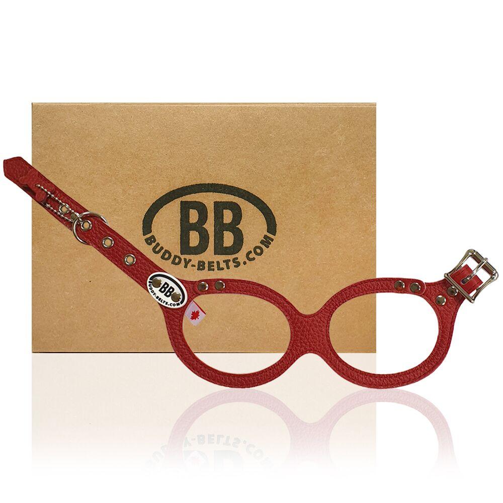 【Buddy Belts】加拿大手工真皮胸背帶-紅色-4號