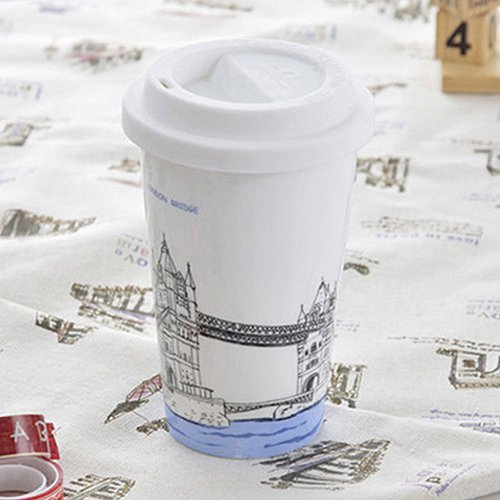 Bella House 雙層陶瓷杯 ~ 倫敦鐵橋