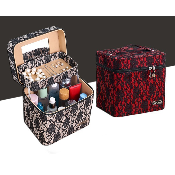 星洋家居 化妝包 小號 便攜 韓國簡約 大容量 多功能 化妝品收納箱盒 網紅多層少女 化妝箱 隨身攜