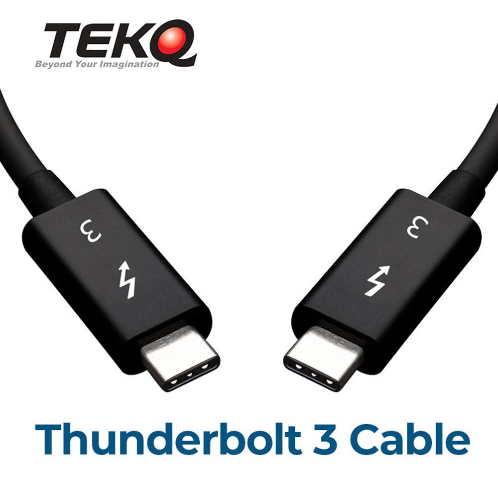 TEKQ Thunderbolt 3 intel認證 高速傳輸線 50cm