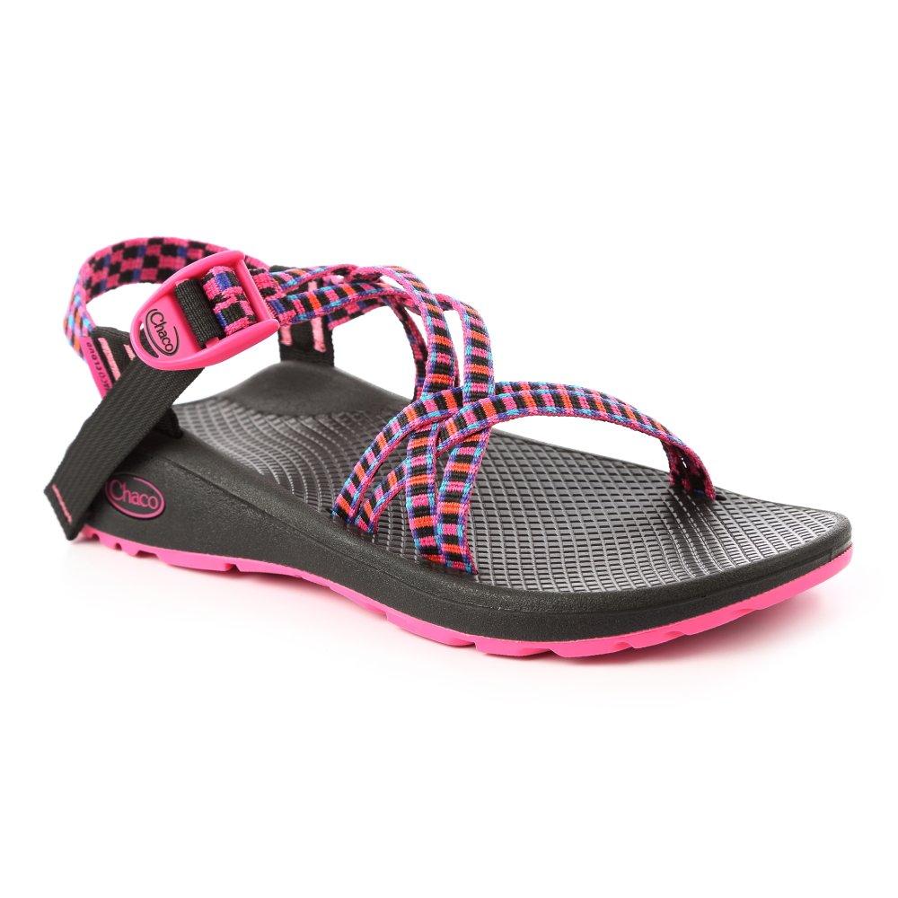 美國Chaco。女 越野舒壓運動涼鞋-雙織標準款CH-ZLW03HF09 (花格洋紅)