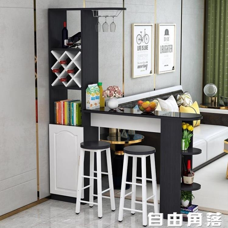 家用客廳吧台桌酒櫃餐廳隔斷櫃現代簡約玄關櫃轉角靠牆櫃子小吧台CY~ 春季新品特惠