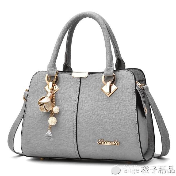 手提包包2020新款潮單肩斜挎包時尚百搭中年女士大容量媽媽包女包