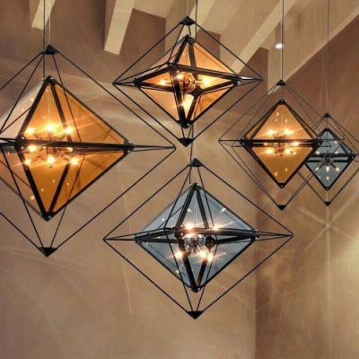 H&R安室家  玻璃立方56X53cm小號吊燈