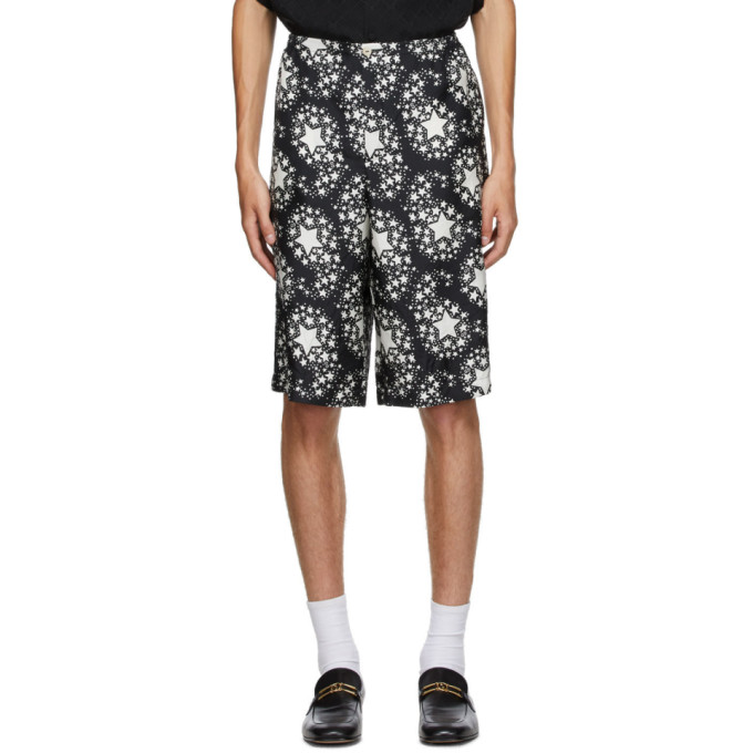 Gucci 黑 Star Print 真丝短裤