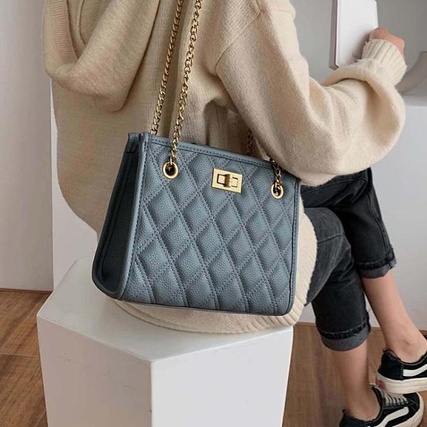 側背包高級感包包上新質感小包女包新款潮時尚錬條單肩包洋氣側背包 中秋節全館免運