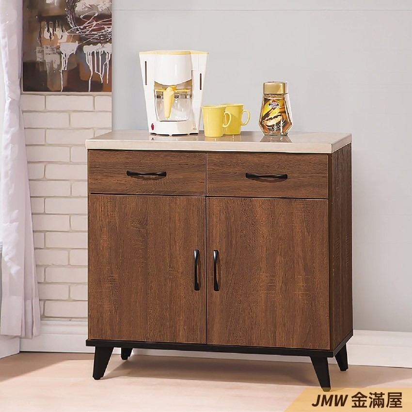 81.3cm 北歐餐櫃收納 實木電器櫃 廚房櫃 餐櫥櫃 碗盤架 中島大理石金滿屋尺餐櫃-g821