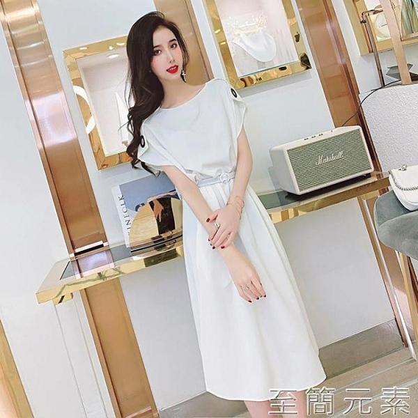 優雅氣質醋酸緞洋裝年新款女裝夏季韓版寬松無袖中長款裙子 雙十二全館免運