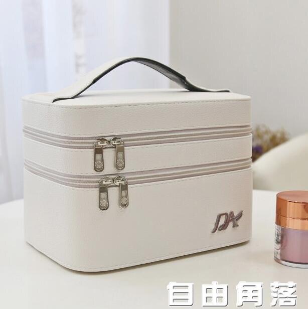收納包 化妝包新款超火 ins風韓國版簡約可愛女便攜手提包 高級感化妝箱