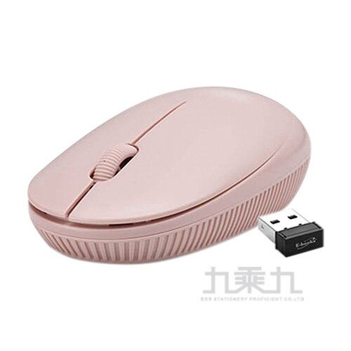 E-books M53 美型超靜音無線滑鼠-粉