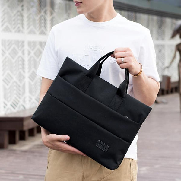 公事包 公文包男A4手提袋資料袋商務辦公包定制會議用防震電腦包女手提包