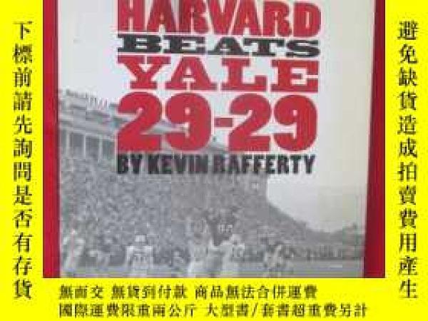 二手書博民逛書店Harvard罕見Beats Yale 29-29 (16開,硬