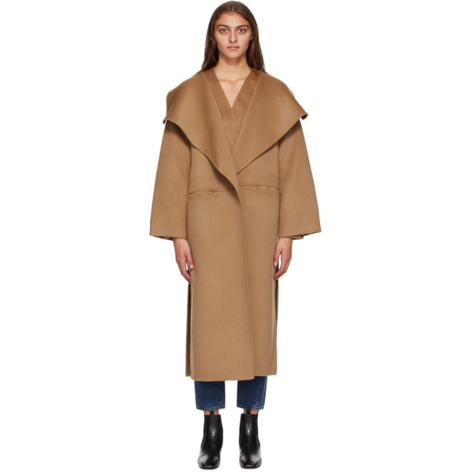 Toteme 黄褐色 Annecy 大衣