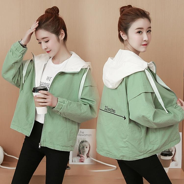 棒球外套 少女春秋裝2020新款初中高中學生韓版寬鬆外衣服小清新棒球服 交換禮物