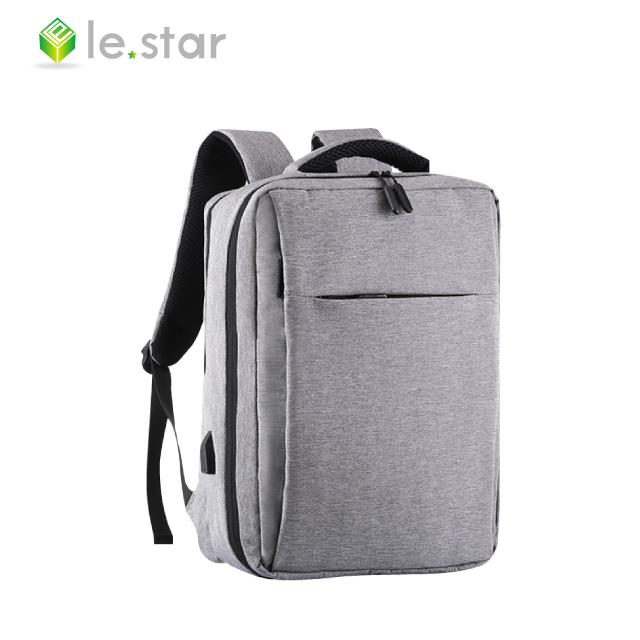 lestar 雙層大收納商務3D氣囊減壓雙肩背包 灰色