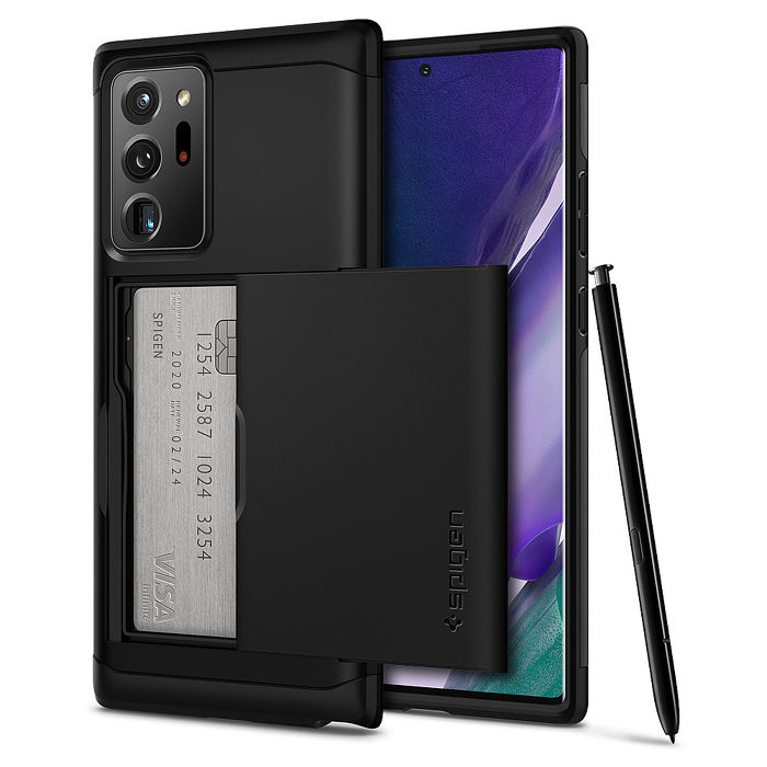 SGP / Spigen Galaxy Note 20 / 20 Ultra Slim Armor CS-卡夾軍規防摔保護殼Note 20 Ultra 黑