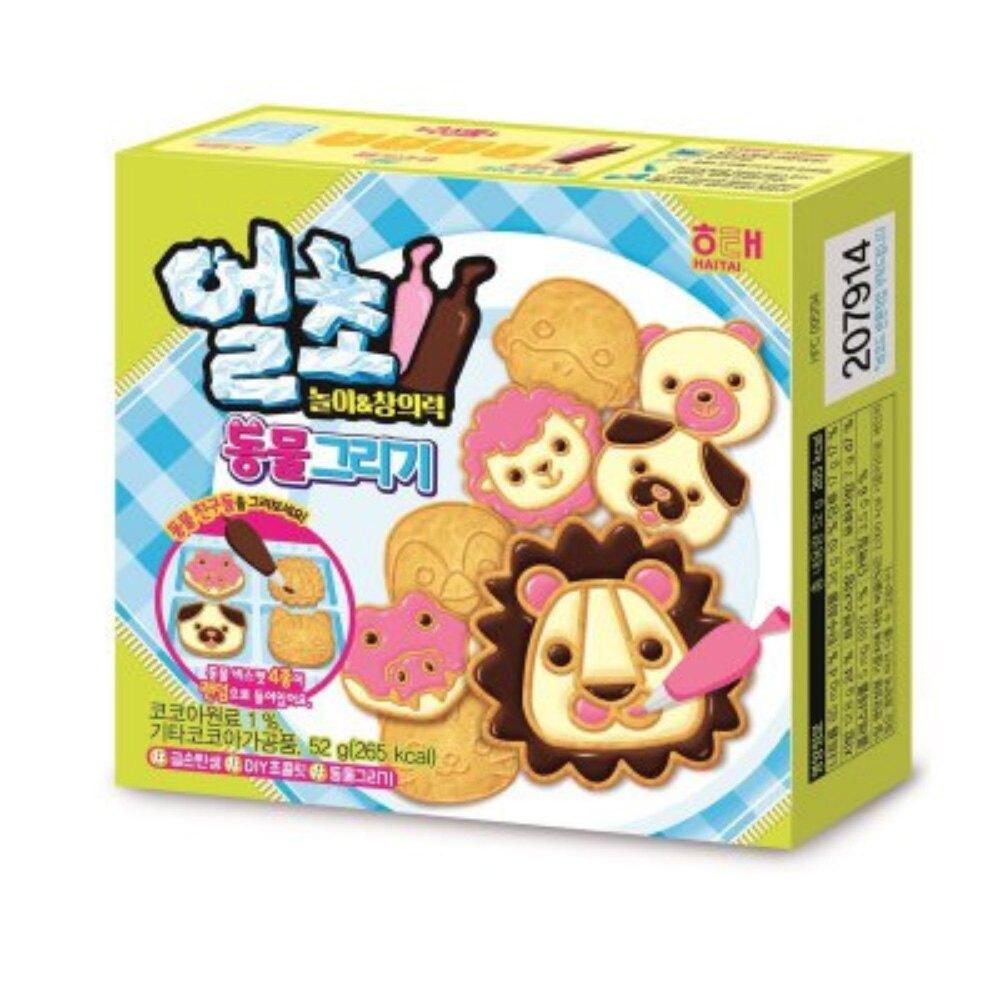 韓國 海太 DIY 動物造型餅乾 52g 小朋友零食 [928福利社]全館299免運