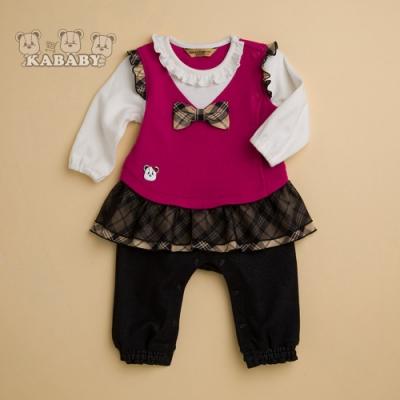 【金安德森】KA網紗層次裙擺假兩件式女兔裝