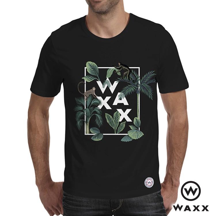 【WAXX】藝術拼字猴子短袖T恤(黑色)201WA-MT68321