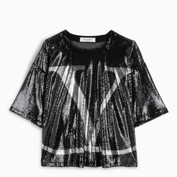 Valentino Vlogo sequins t-shirt
