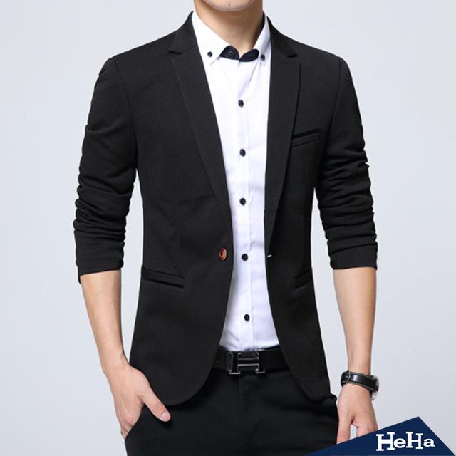 【HeHa】韓版修身西裝外套 四色